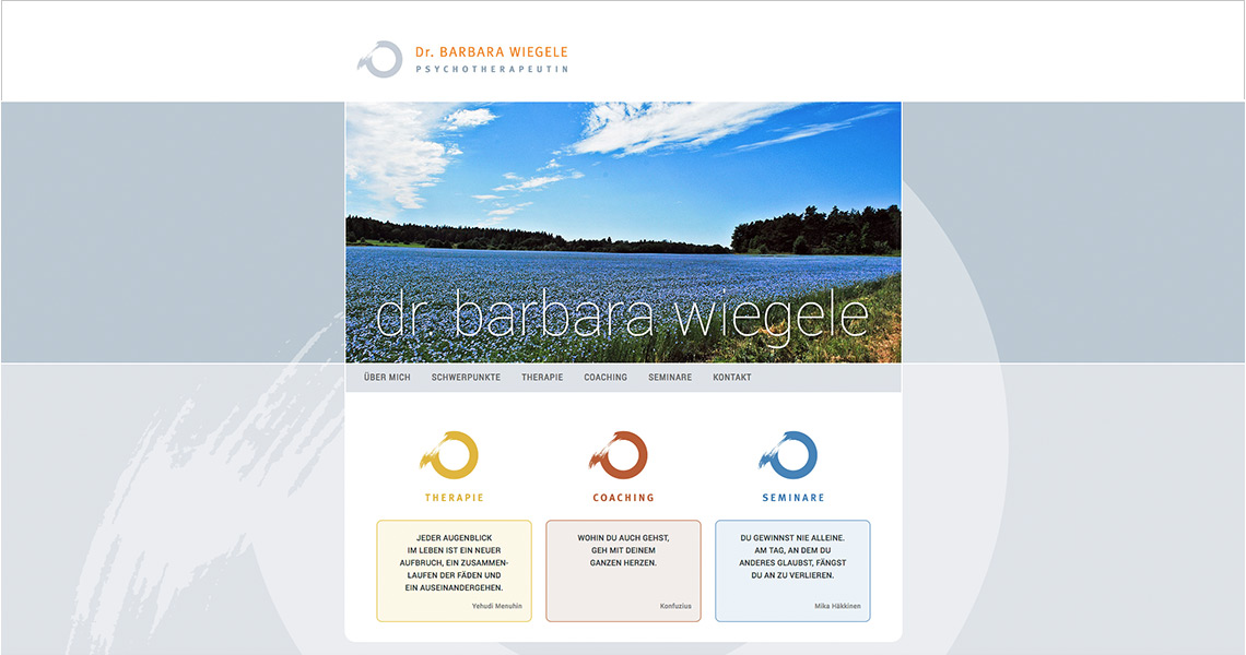 Website Dr. Barbara Wiegele