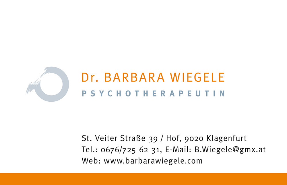 Visitenkarten Dr. Barbara Wiegele