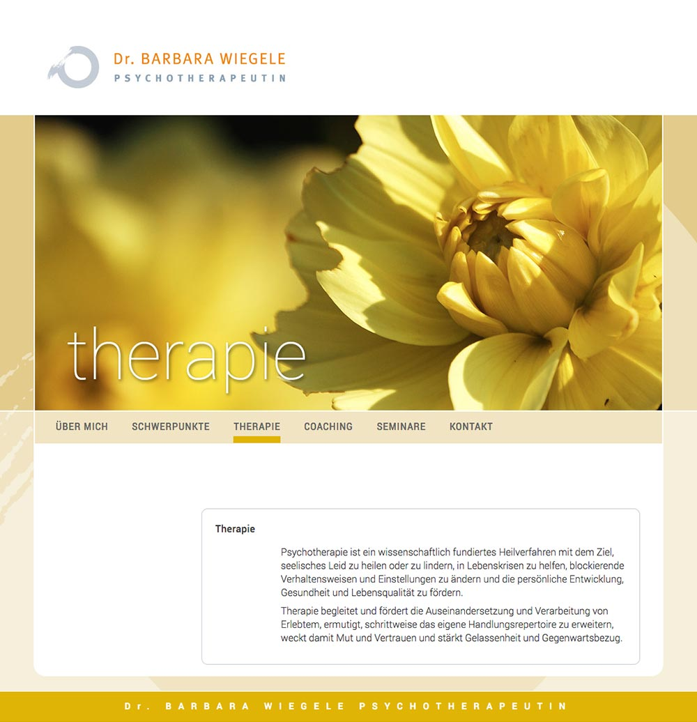 Website – Therapie