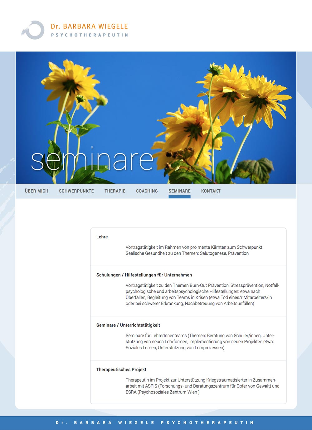 Website – Seminare