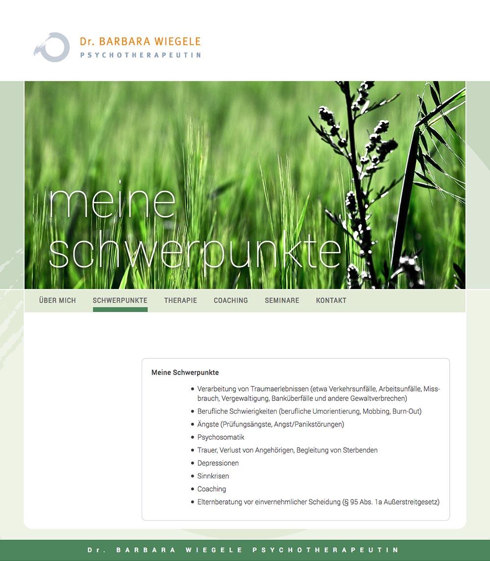 Website – Meine Schwerpunkte