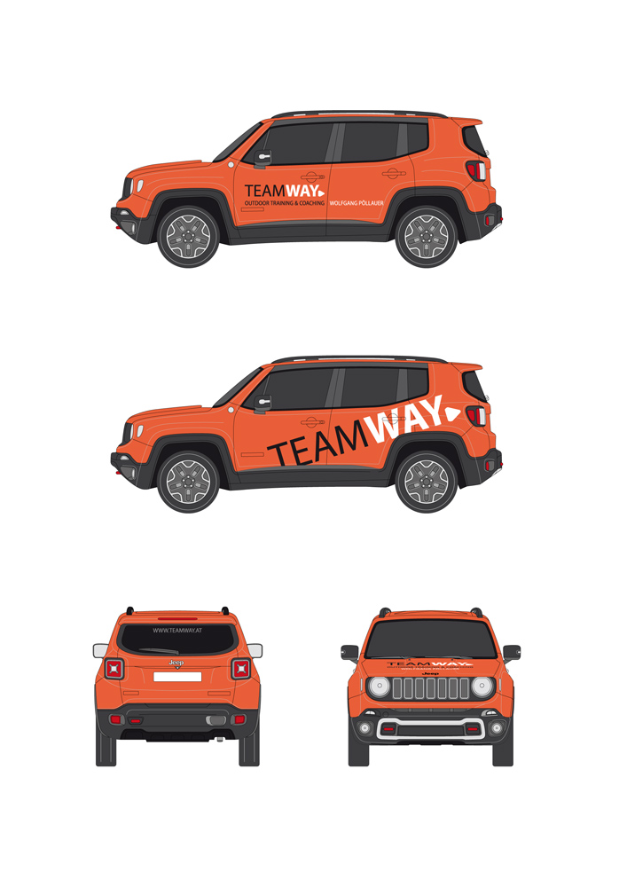 Teamway – Autobeklebung