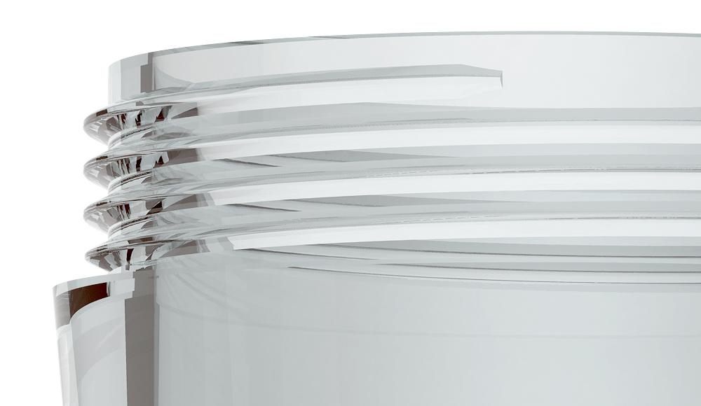 Kontaktlinsen-Behälter weiß Detail