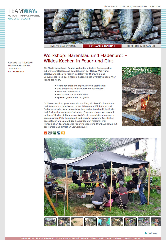 Teamway Website – Wildes Kochen