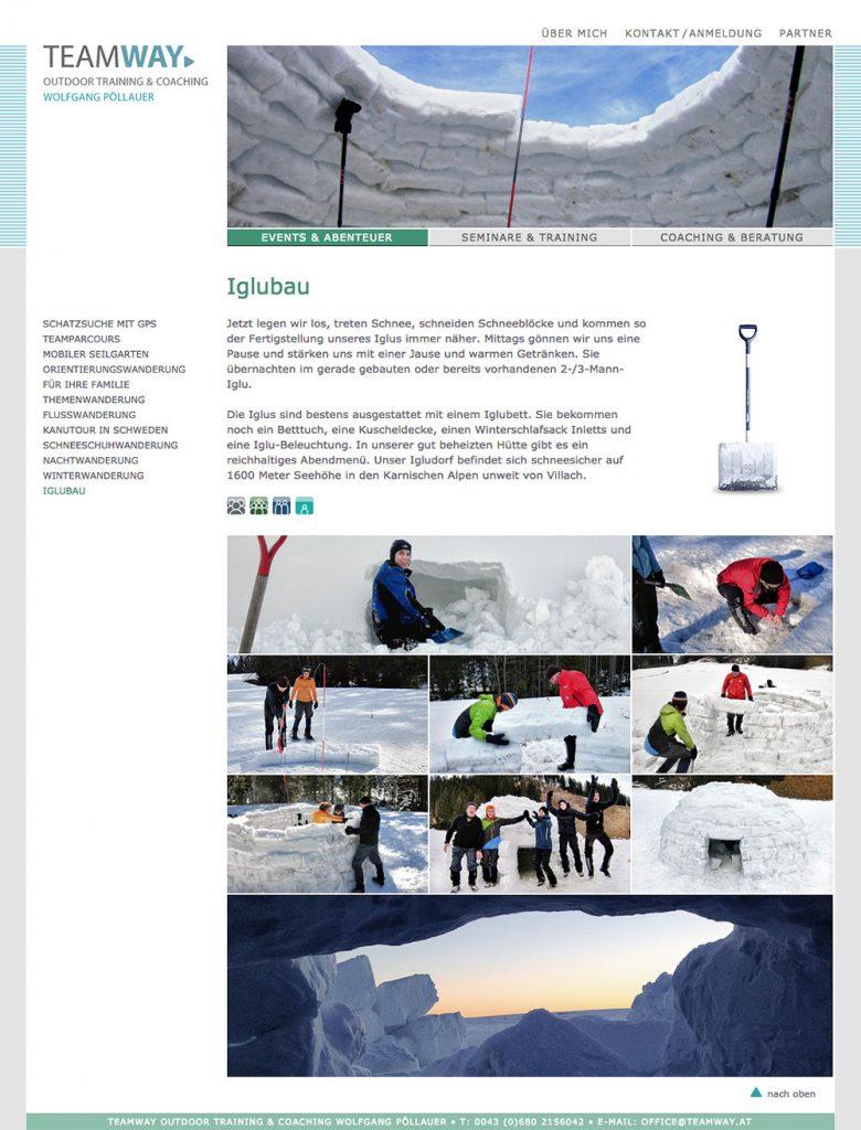 Teamway Website – Iglubau