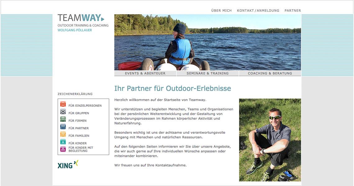 Teamway Website – Startseite