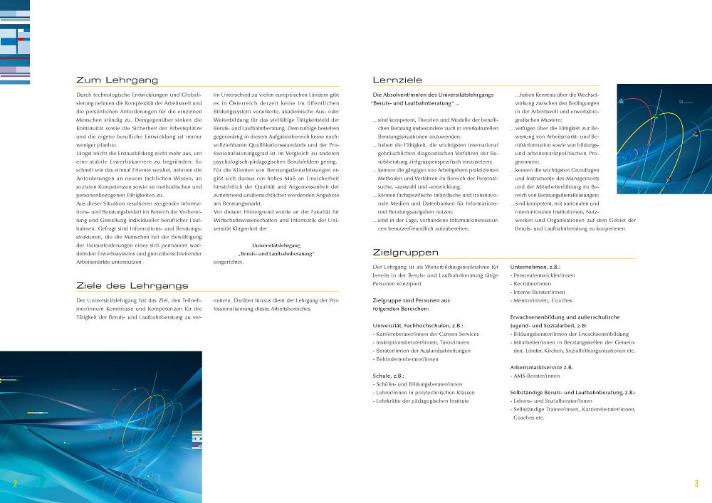Career Management Laufbahnberatung MAS Broschüre – Innenseiten