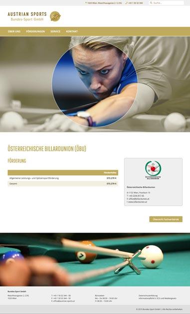 Austrian Sports – Billardunion