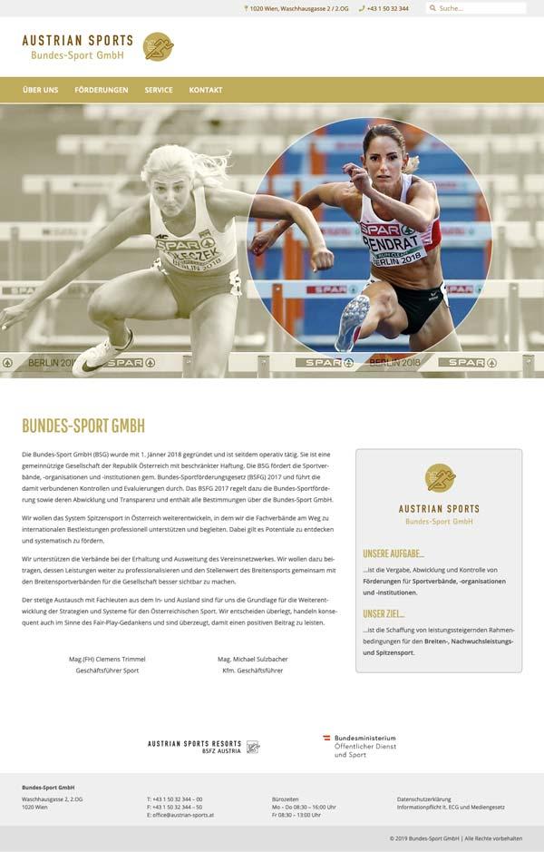 Austrian-Sports-Startseite