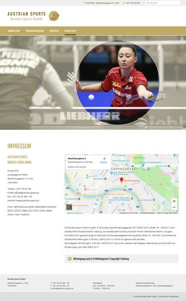 Austrian Sports – Impressum